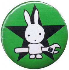 """Zum 50mm Button """"Direct Action Hase - Stern (grün)"""" für 1,20 € gehen."""