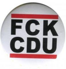 """Zum 50mm Button """"FCK CDU"""" für 1,20 € gehen."""