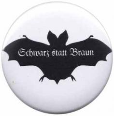 """Zum 50mm Button """"Fledermaus - schwarz statt braun"""" für 1,20 € gehen."""