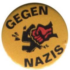 """Zum 50mm Button """"Gegen Nazis - gelb"""" für 1,20 € gehen."""