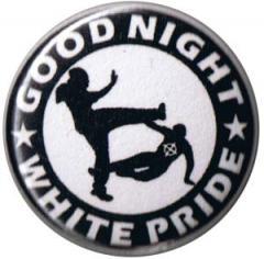"""Zum 50mm Button """"Good night white pride (schwarz/weiß)"""" für 1,17 € gehen."""