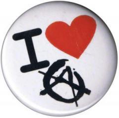 """Zum 50mm Button """"I love Anarchy"""" für 1,20 € gehen."""