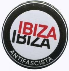 """Zum 50mm Button """"Ibiza Ibiza Antifascista (Schrift)"""" für 1,20 € gehen."""