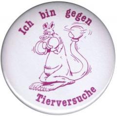 """Zum 50mm Button """"Ich bin gegen Tierversuche"""" für 1,20 € gehen."""
