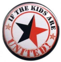 """Zum 50mm Button """"If the kids are united (schwarz/roter Stern)"""" für 1,20 € gehen."""