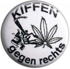 """Zum 50mm Button """"Kiffen gegen Rechts"""" für 1,20 € gehen."""