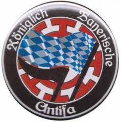 """Zum 50mm Button """"Königlich Bayerische Antifa Mühldorf"""" für 1,36 € gehen."""