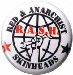 """Zum 50mm Button """"Red and Anarchist Skinheads (R.A.S.H.)"""" für 1,20 € gehen."""