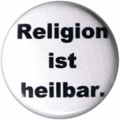 """Zum 50mm Button """"Religion ist heilbar."""" für 1,20 € gehen."""