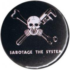 """Zum 50mm Button """"Sabotage the System"""" für 1,20 € gehen."""