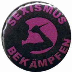 """Zum 50mm Button """"Sexismus bekämpfen"""" für 1,20 € gehen."""