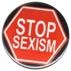 """Zum 50mm Button """"Stop Sexism"""" für 1,17 € gehen."""