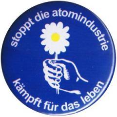 """Zum 50mm Button """"Stoppt die Atomindustrie"""" für 1,20 € gehen."""
