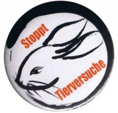 """Zum 50mm Button """"Stoppt Tierversuche"""" für 1,20 € gehen."""
