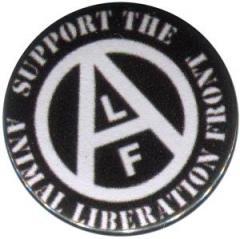 """Zum 50mm Button """"support the Animal Liberation Front (schwarz)"""" für 1,20 € gehen."""