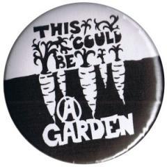 """Zum 50mm Button """"This could be a garden"""" für 1,20 € gehen."""
