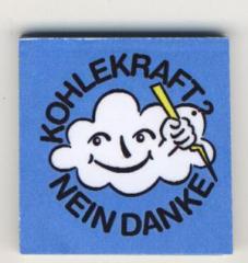 """Zum Spucki / Schlecki / Papieraufkleber """"Kohlekraft? Nein Danke"""" für 1,00 € gehen."""