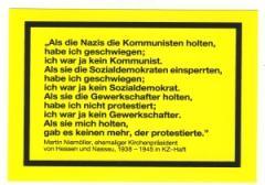 """Zum Aufkleber """"Als die Nazis die Kommunisten holten..."""" für 1,00 € gehen."""
