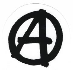 """Zum Aufkleber """"Anarchie"""" für 1,00 € gehen."""