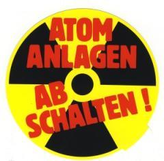 """Zum Aufkleber """"Atomanlagen abschalten!"""" für 0,97 € gehen."""