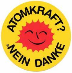 """Zum Aufkleber """"Atomkraft? Nein Danke"""" für 0,97 € gehen."""