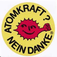 """Zum Aufkleber """"Atomkraft? Nein Danke - mit Faust"""" für 1,00 € gehen."""