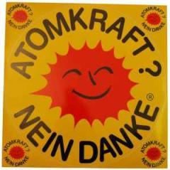 """Zum Aufkleber """"Atomkraft? Nein Danke"""" für 8,00 € gehen."""