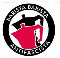 """Zum Aufkleber """"Barista Barista Antifascista (Moka)"""" für 0,97 € gehen."""