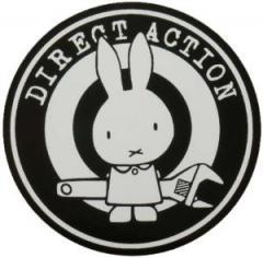 """Zum Aufkleber """"Direct Action"""" für 1,00 € gehen."""