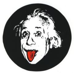 """Zum Aufkleber """"Einstein"""" für 1,00 € gehen."""