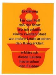 """Zum Aufkleber """"Erklärung Für den Fall ..."""" für 1,00 € gehen."""