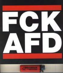 """Zum Aufkleber """"FCK AFD groß (210/210mm) einzeln"""" für 1,46 € gehen."""