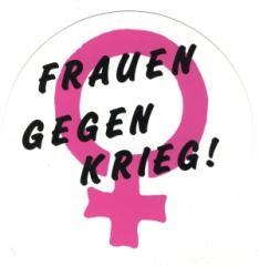 """Zum Aufkleber """"Frauen gegen Krieg"""" für 1,00 € gehen."""
