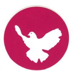 """Zum Aufkleber """"Friedenstaube (pink)"""" für 1,00 € gehen."""