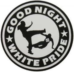 """Zum Aufkleber """"Good night white pride"""" für 1,00 € gehen."""
