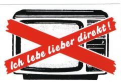 """Zum Aufkleber """"Ich lebe lieber direkt"""" für 0,97 € gehen."""
