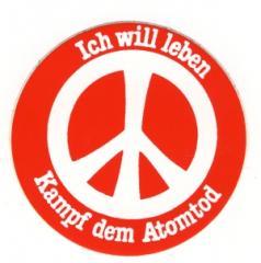 """Zum Aufkleber """"Ich will leben"""" für 1,00 € gehen."""