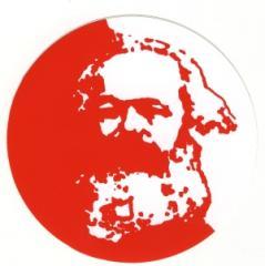 """Zum Aufkleber """"Karl Marx"""" für 1,00 € gehen."""