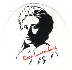 """Zum Aufkleber """"Rosa Luxemburg"""" für 1,00 € gehen."""