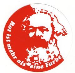 """Zum Aufkleber """"Rot ist mehr als eine Farbe"""" von Karl Marx für 1,00 € gehen."""