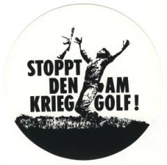 """Zum Aufkleber """"Stoppt den Krieg am Golf!"""" für 1,00 € gehen."""