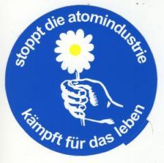 """Zum Aufkleber """"Stoppt die Atomindustrie"""" für 1,00 € gehen."""