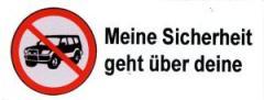"""Zum Aufkleber """"SUV stoppen - Meine Sicherheit geht über deine"""" für 0,19 € gehen."""