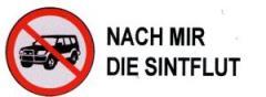 """Zum Aufkleber """"SUV stoppen - Nach mir die Sintflut"""" für 0,20 € gehen."""