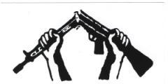 """Zum Aufkleber """"Zerbrochenes Gewehr"""" für 1,00 € gehen."""