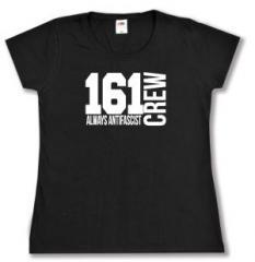 """Zum tailliertes T-Shirt """"161 Crew Always Antifascist"""" für 14,00 € gehen."""