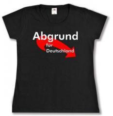 """Zum tailliertes T-Shirt """"Abgrund für Deutschland"""" für 13,65 € gehen."""