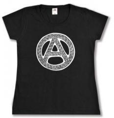 """Zum tailliertes T-Shirt """"Anarchie - Tribal"""" für 13,65 € gehen."""
