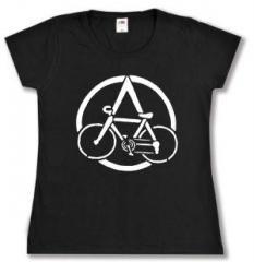 """Zum tailliertes T-Shirt """"Anarchocyclist"""" für 14,00 € gehen."""