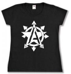 """Zum tailliertes T-Shirt """"Anarchy Star"""" für 13,65 € gehen."""